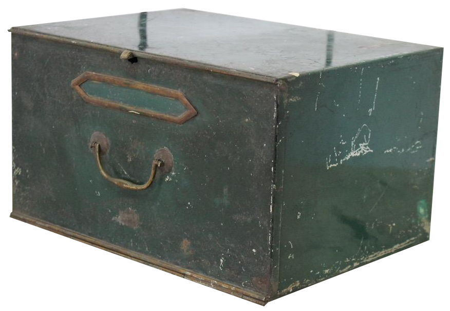 Set of 5 Early C20th Metal Boxes in Original Paint