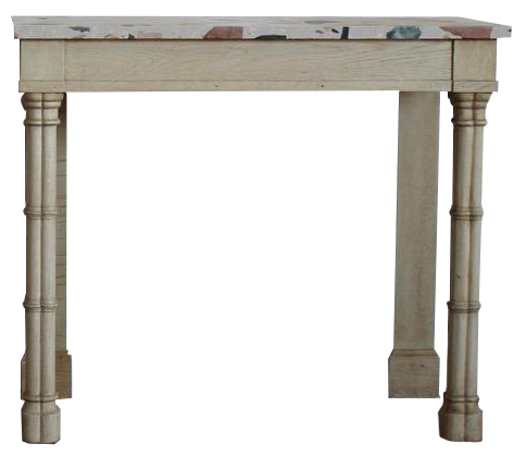 Smart Pair of 19th Century English Console Tables in Bleached Oak
