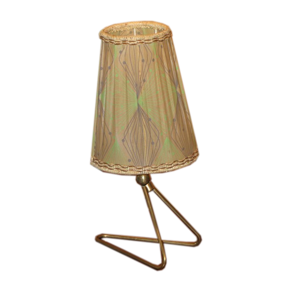 Stylish 1950s French Table Lamp with the Original Shade
