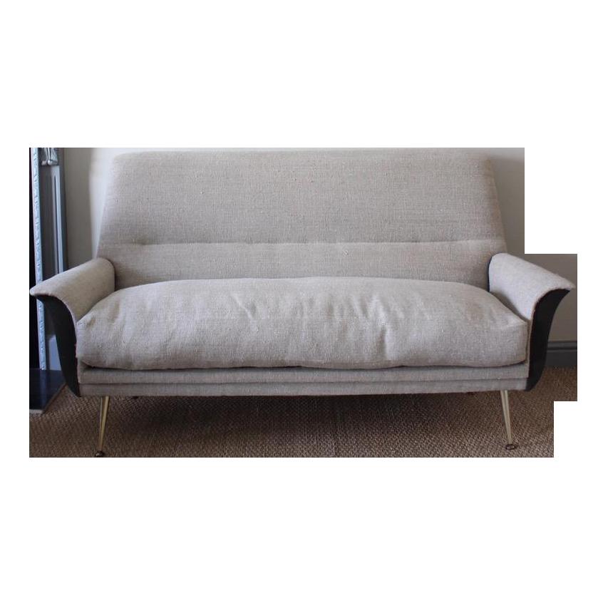 Stylish 1950s Italian Sofa