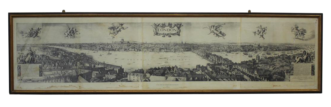 """""""The Long View of London from Bankside"""" 1647"""