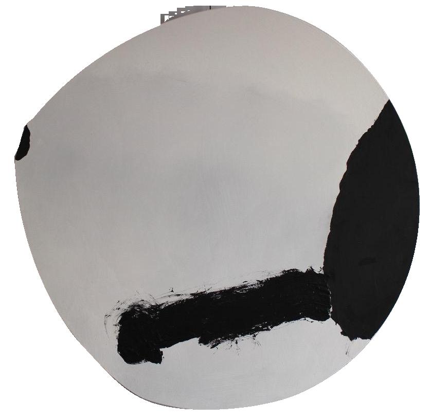 """""""Thrust Round"""" Original White Artwork by the late British Artist Trevor Bell"""