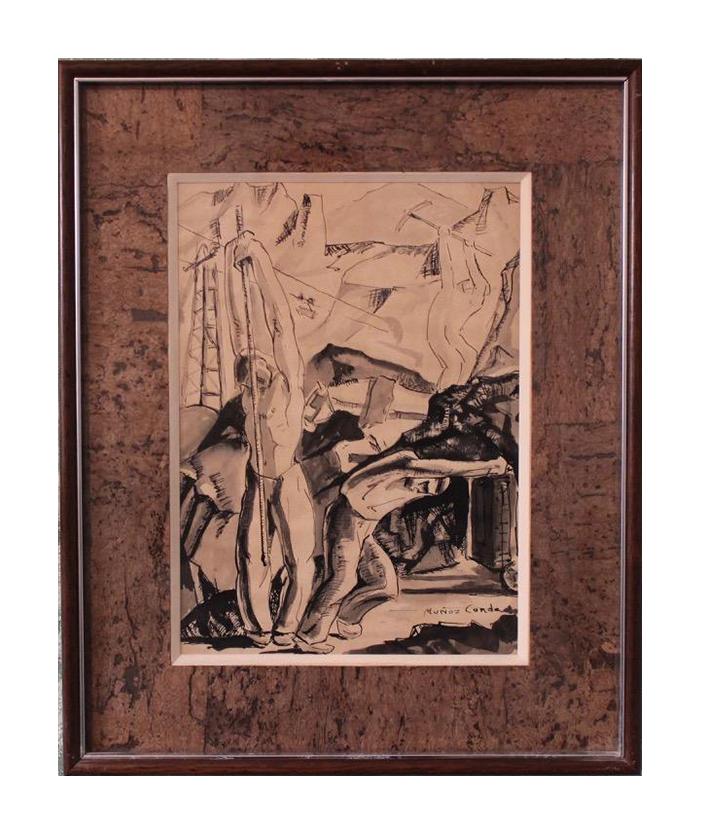 Two original paintings by Pedro Muñoz Condado ( 1903-1988 )