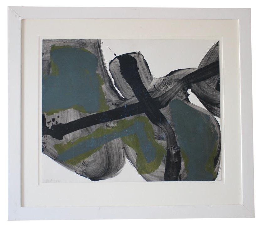 """""""Untitled"""" Original Gouache on Paper by Trevor Bell, Signed and dated 1962"""