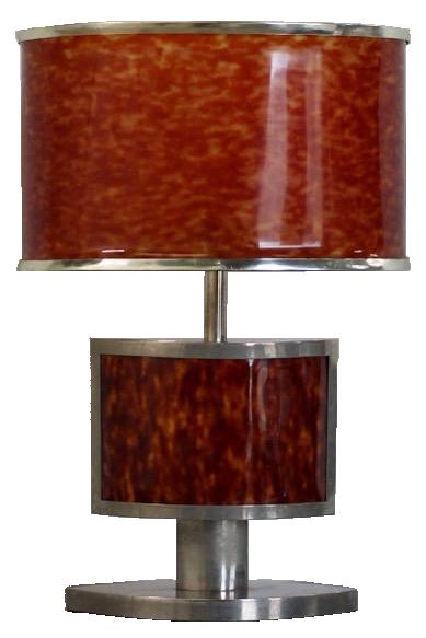 Very Stylish 1970s Spanish Faux Tortoiseshell Table Lamp