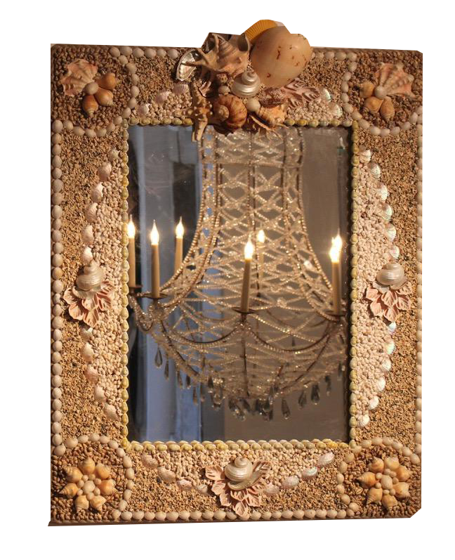 Wonderful 1970s Anthony Redmile Shell Mirror