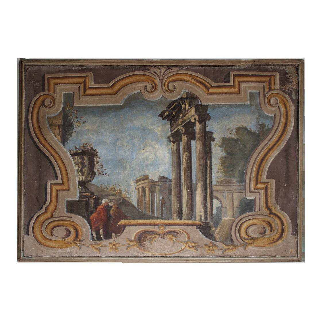 Wonderful pair of 19th cent Italian Oil on Canvas