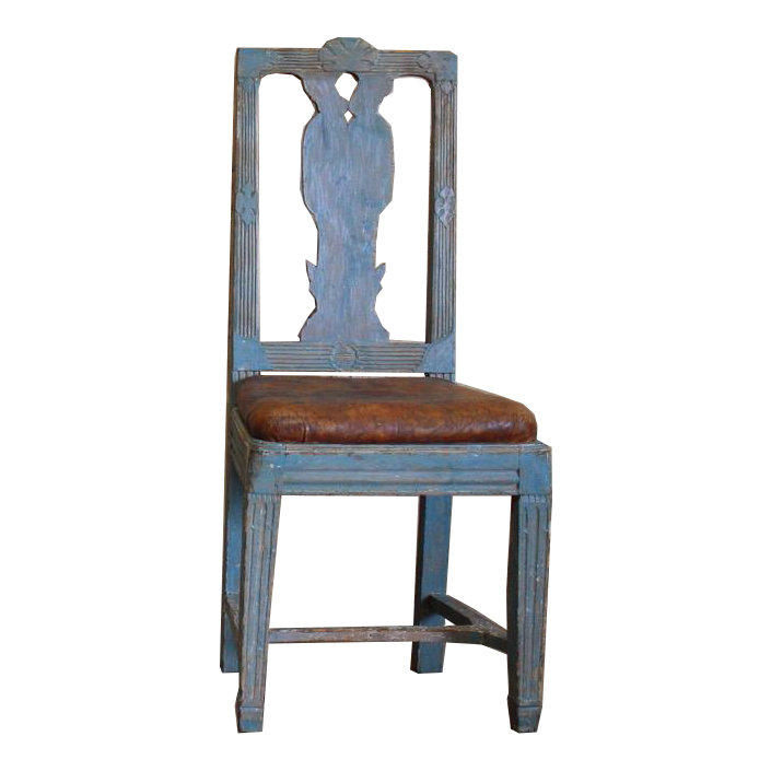 Wonderful set of Four 19th Cent Swedish Provincial Chairs