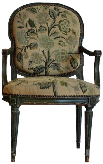 Pair of Late 19th Cent French Napoleon III Painted Fauteuils