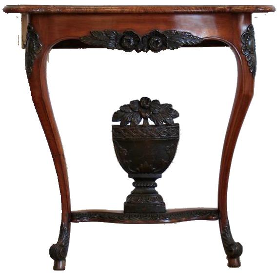Late 18th Century Swedish Fruitwood & Karelian Birch Console Table