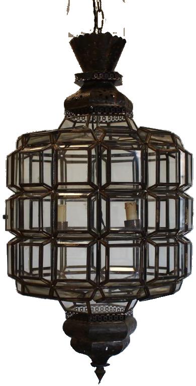 Large Mid 20th Century Spanish Lantern in the Moroccan Taste