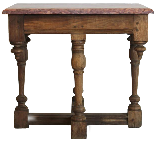 Early 19th century French Chestnut Side / Centre Table with Marble Top