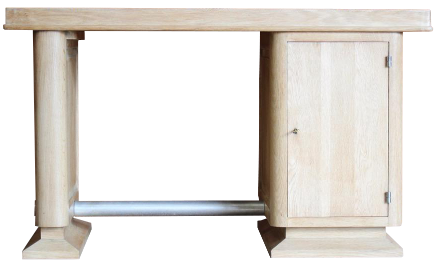 1950s French Oak Desk by Gaston Poisson