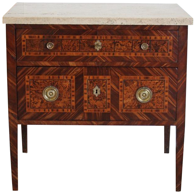 18th Cent French Commode with a replacement top
