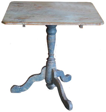 18th Cent Swedish Provincial Rococo Tilt-top table