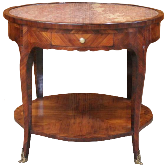 18th Century  French  Louis XV Walnut Bouillotte Table / Gueridon