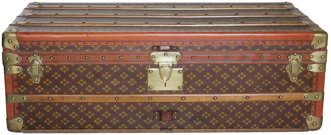 1920s Cabin Trunk by French Luxury Firm Aux États Unis