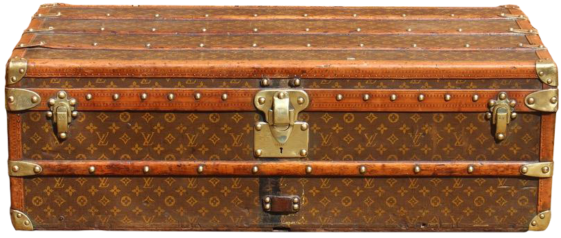 1920s French Monogram Louis Vuitton Cabin Trunk