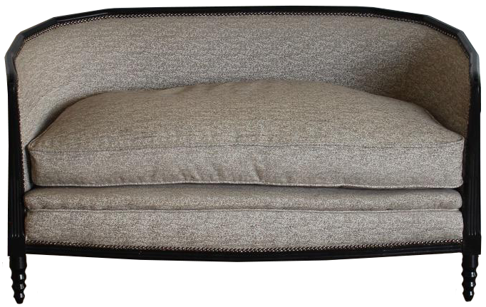 1940s French Ebonised Sofa of Small Proportions