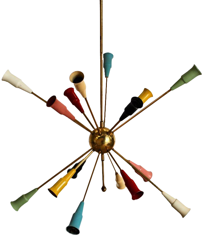 1950s/60s Italian Sputnik Hanging Light