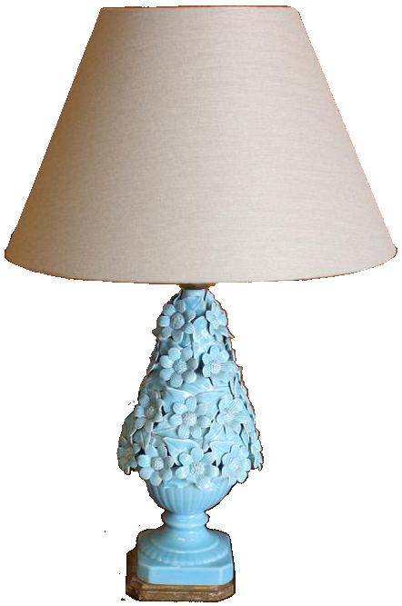 1960s Spanish Ceramic Lamp from Manises