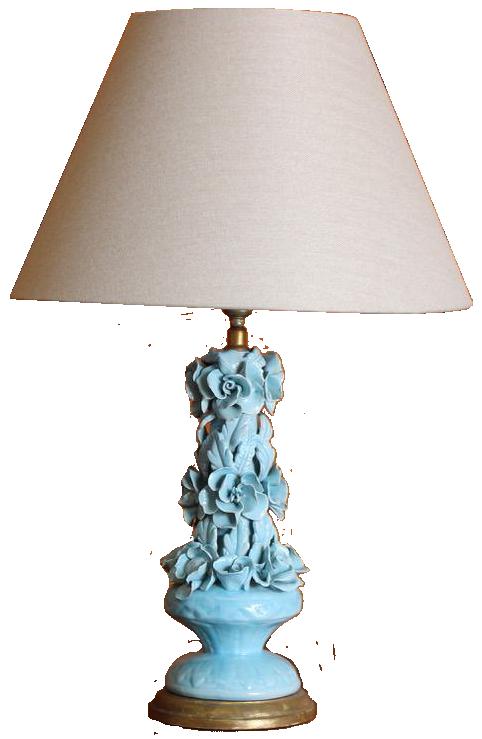 1960s Spanish Ceramic Table Lamp from Manises
