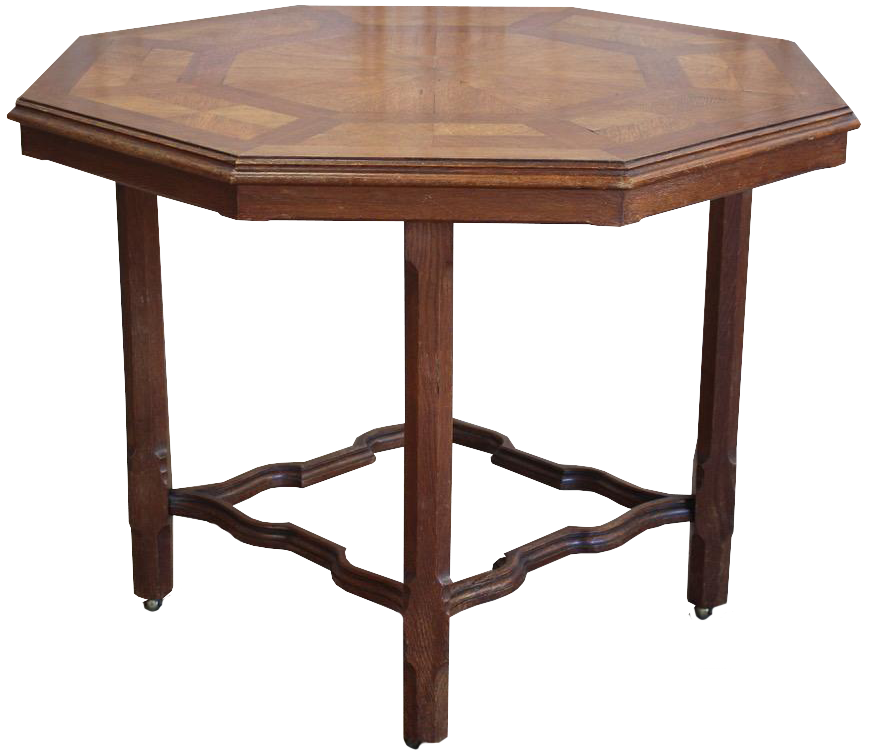 19th century English Octagonal Parquetry Table by Howard & Sons