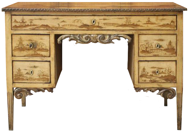 19th Century French Chinoiserie Decorated Writing Desk