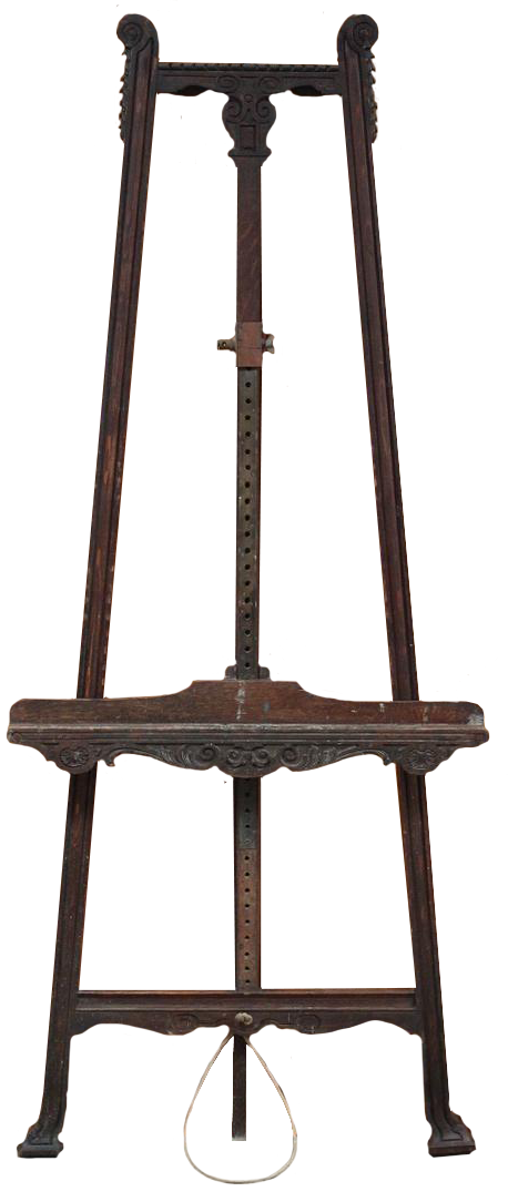 19th Century French Easel in Teak