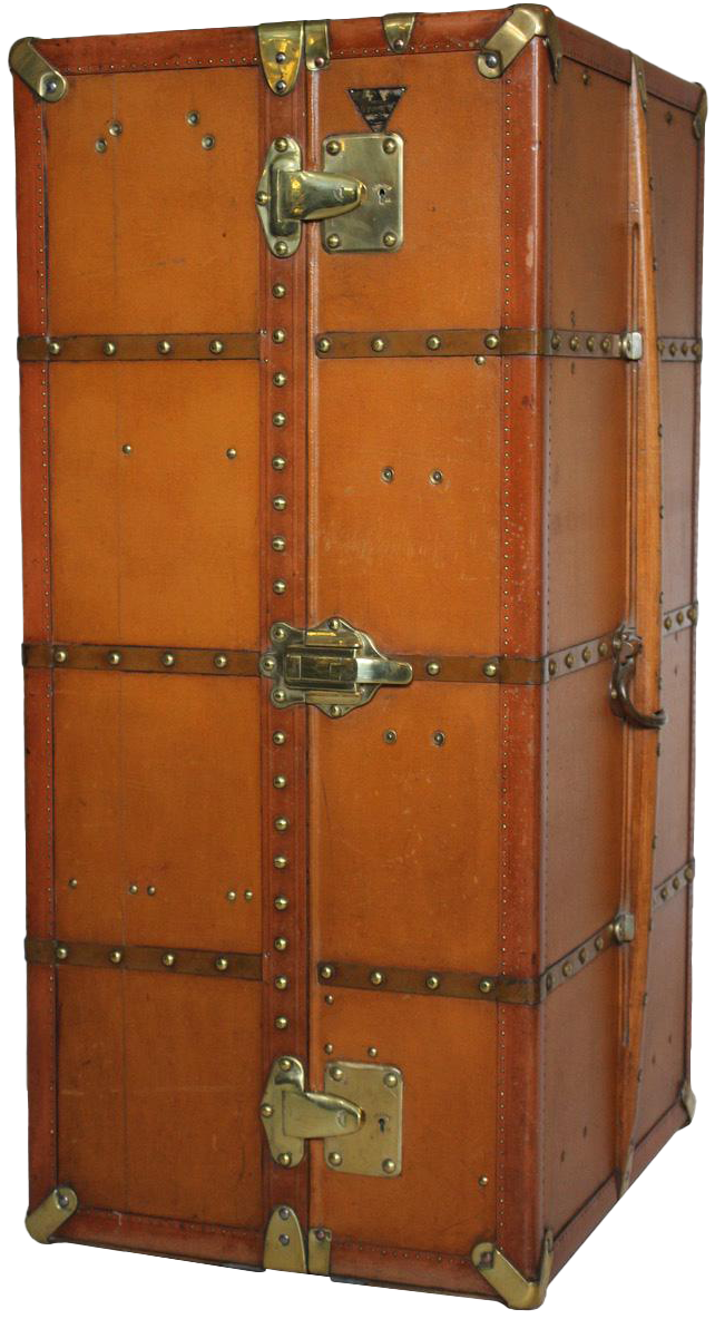 Antique Moynat Wardrobe trunk