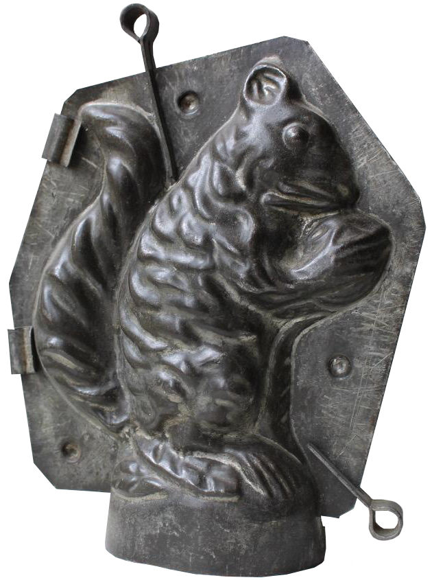Charming and unusual C19th Chocolate Mould of a Squirrel