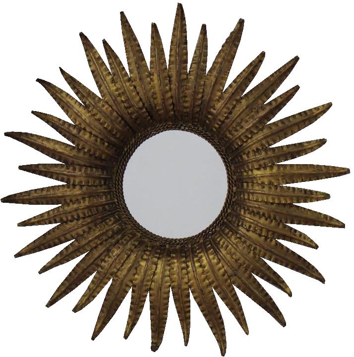 Collection of 10 Mid 20th cent Spanish Sunburst Mirrors