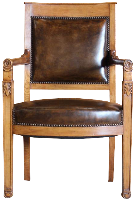 Early 19th Cent French Empire Desk Chair