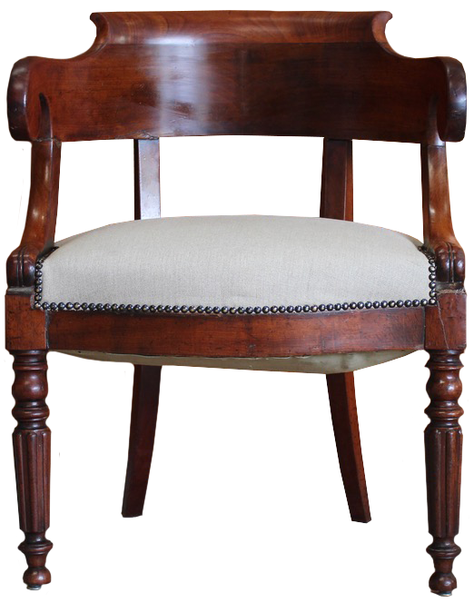 Early 19th century French Mahogany Desk Chair