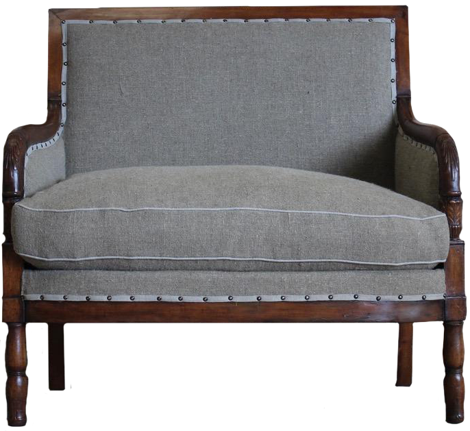 Early 19th century French Marquise Armchair
