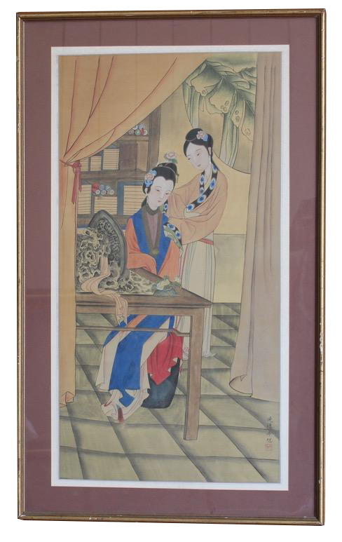 Early 20th cent Chinese Painting on Silk