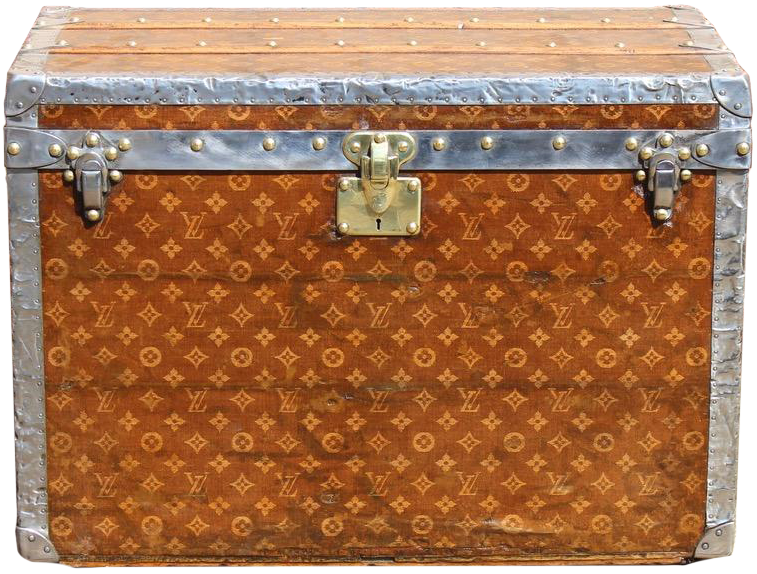 Early Woven Monogram Hatbox Trunk by Louis Vuitton
