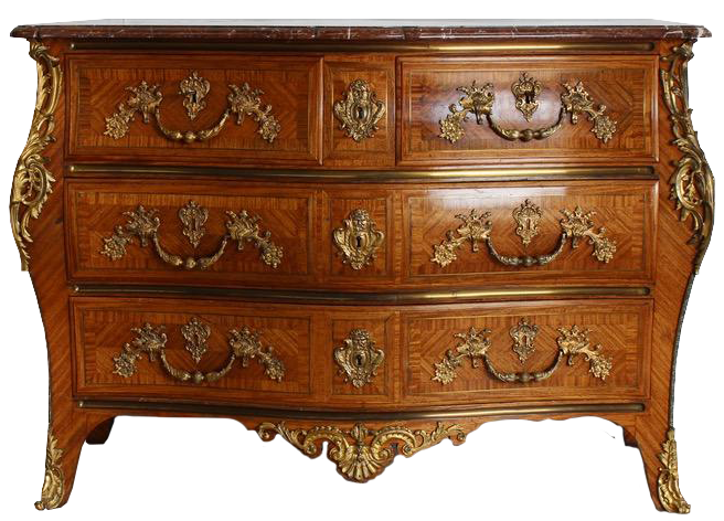 Exceptional Louis XV Revival Kingwood Bombe Commode C1900