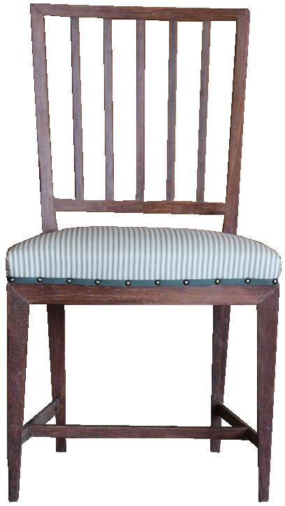 Fine Pair of 18th Cent Late Gustavian Chairs by Johan Hammarström