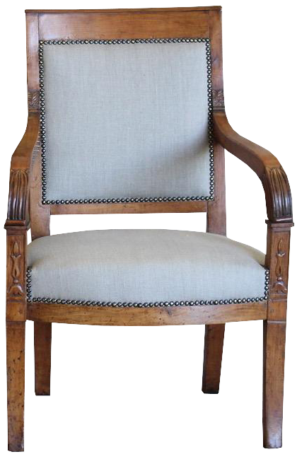 Fine Pair of Early 19th Cent French Walnut Fauteuils