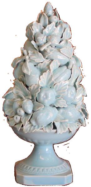 Good Pair of 1960s Spanish Blue Glazed  Ceramics from Manises