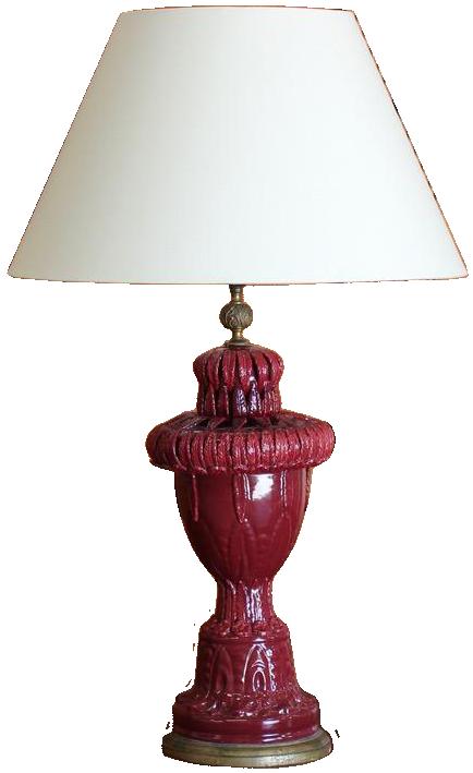 Large 1960s Spanish Ceramic Lamp from Manises