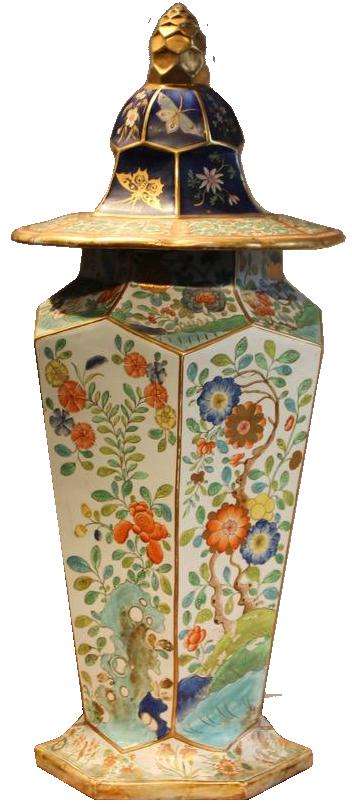 Large 19th cent  English Country House  Masons Ceramic Vase