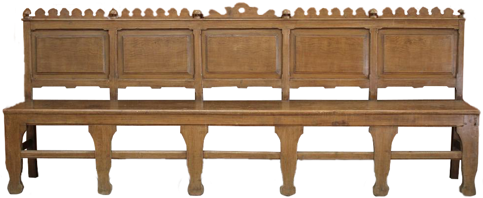 Large 19th century French Provencal Painted Bench
