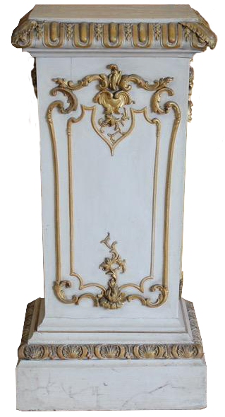 Large 19th Century Painted and Gilded Country House Plinth