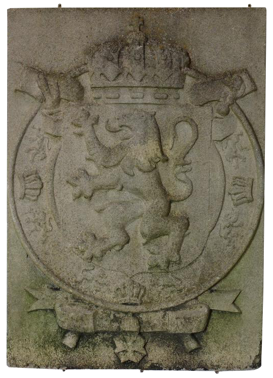 Large English Reconstituted Stone Armorial Shield