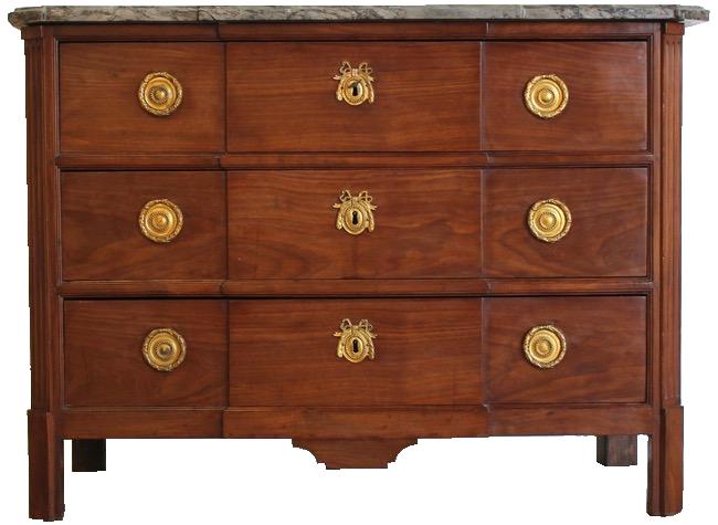 Late 18th century French Mahogany Commode