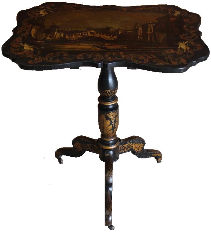Late 19th Century Italian Tilt Top Occasional Table