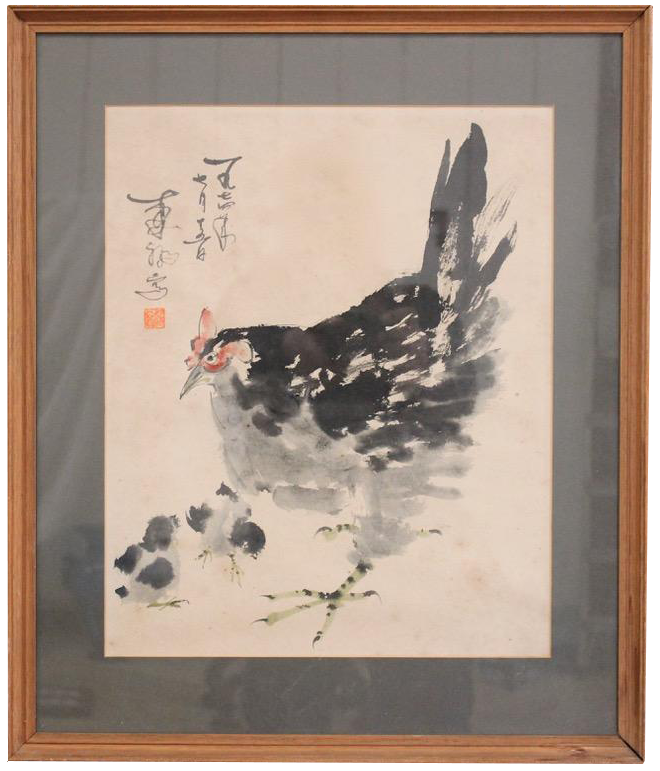 Late 19th / Early C20th Chinese Painting of a Cockerel