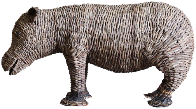 Mid to Late 20th Cent Wicker Sumatran Rhinoceros ?